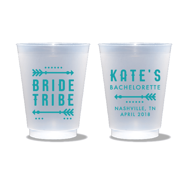 Tribal Bachelorette Frosted Cups