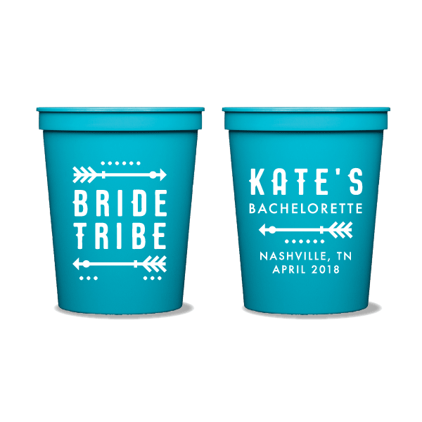 Tribal Bachelorette Party Cups