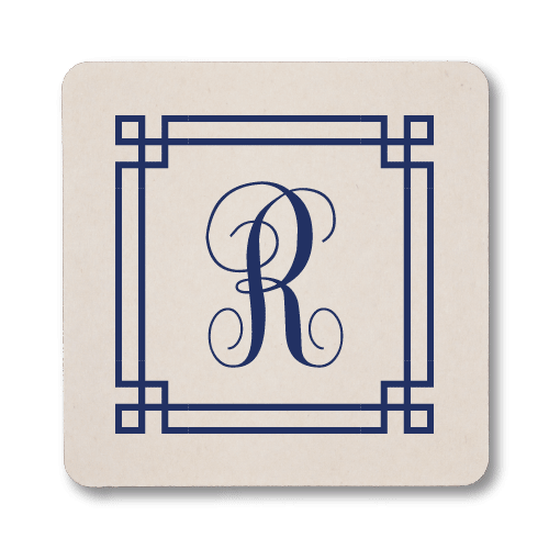 Square Frame Monogram Coasters