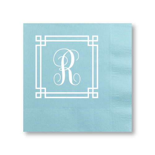 Square Frame Monogram Cocktail Napkins