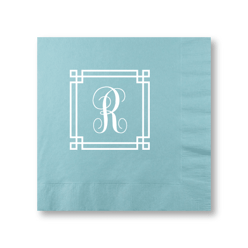Square Frame Monogram Dinner Napkins