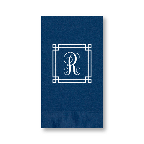 Square Frame Monogram Guest Towels