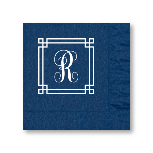 Square Frame Monogram Luncheon Napkins