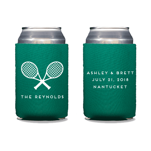 Tennis Racquets Can Coolers