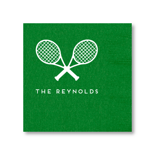 Tennis Racquets Cocktail Napkins