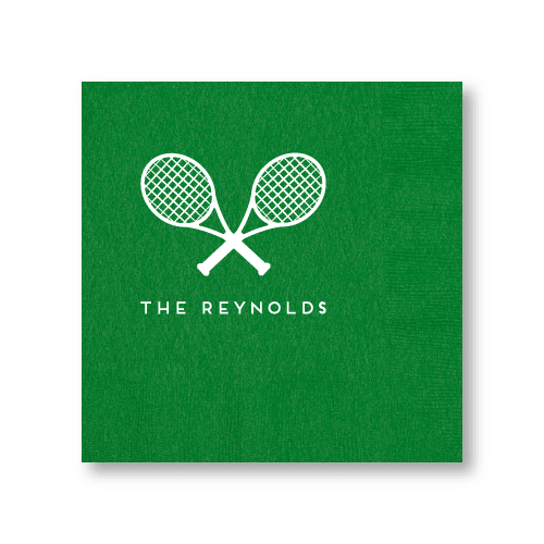 Tennis Racquets Dinner Napkins