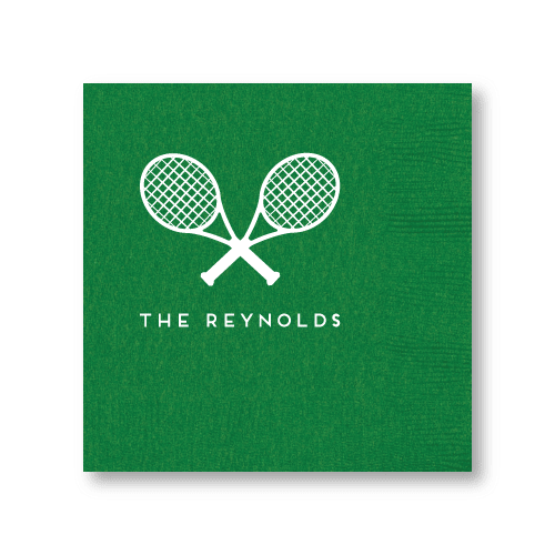 Tennis Racquets Luncheon Napkins