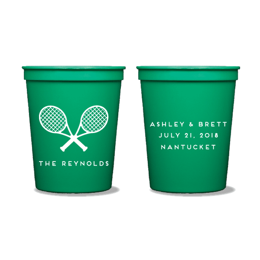 Tennis Racquets Party Cups