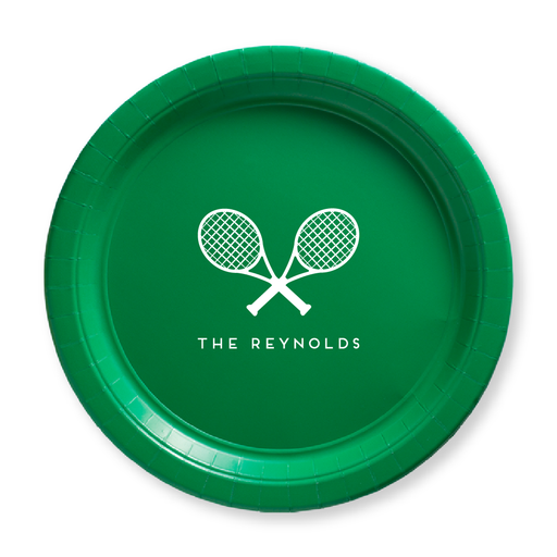 Tennis Racquets Paper Plates
