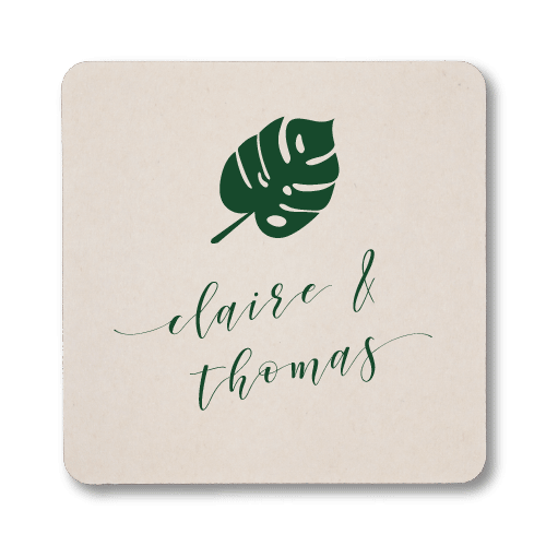 Personalized Monstera Coasters