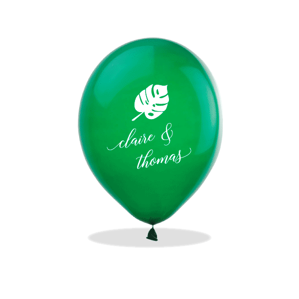 Personalized Monstera Latex Balloons