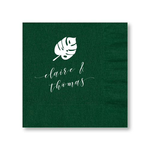 Personalized Monstera Luncheon Napkins