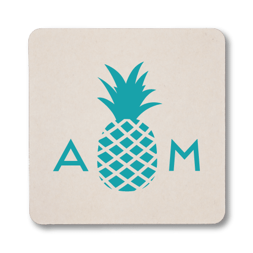 Monogrammed Pineapple Coasters