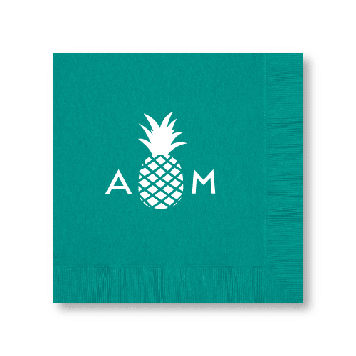 Monogrammed Pineapple Dinner Napkins