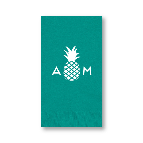 Monogrammed Pineapple Guest Towels