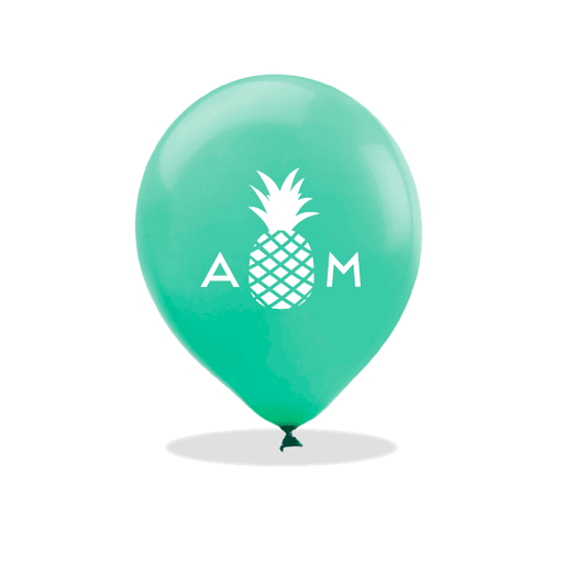 Monogrammed Pineapple Latex Balloons