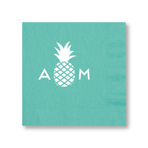 Monogrammed Pineapple Luncheon Napkins