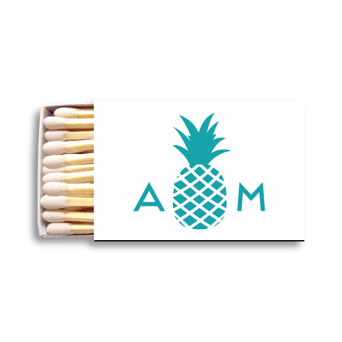 Monogrammed Pineapple Matchboxes