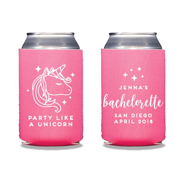Party Like A Unicorn Can Coolers