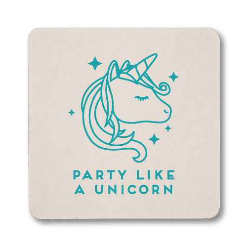 Party Like A Unicorn Coasters