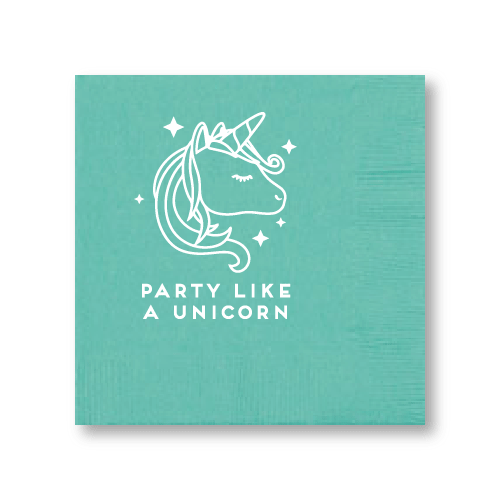 Party Like A Unicorn Cocktail Napkins