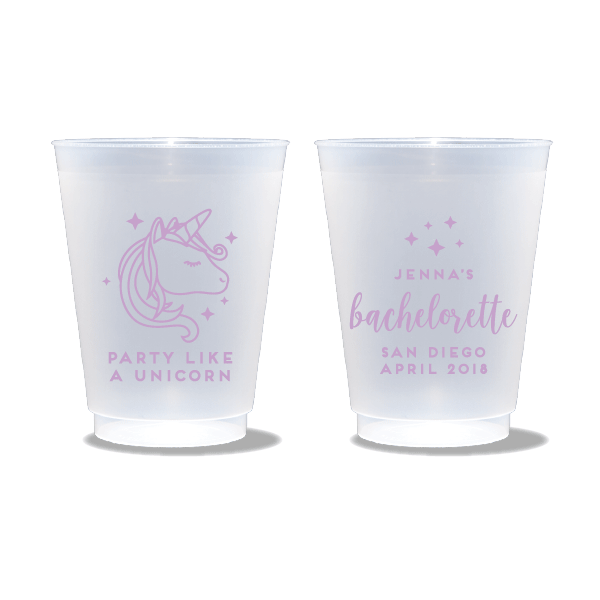 Party Like A Unicorn Frosted Cups