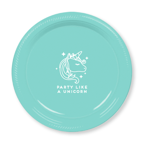 Party Like a Unicorn Plastic Plates