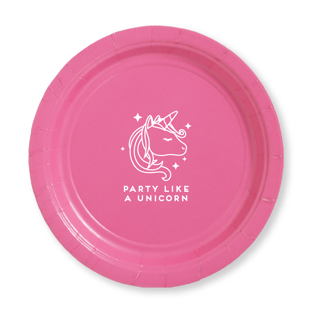 Party Like A Unicorn Paper Plates