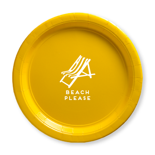 Beach Please Paper Plates