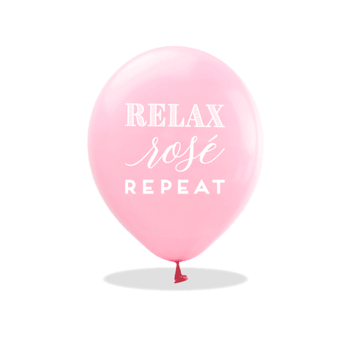 Relax Rose Repeat Latex Balloons