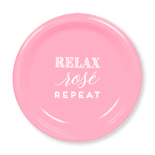 Relax Rose Repeat Plastic Plates
