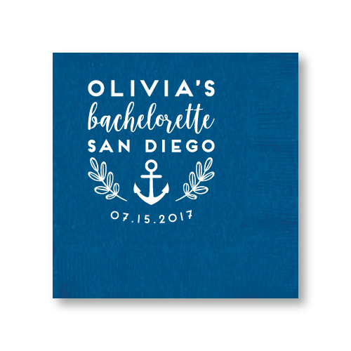 Bachelorette Ahoy Cocktail Napkins