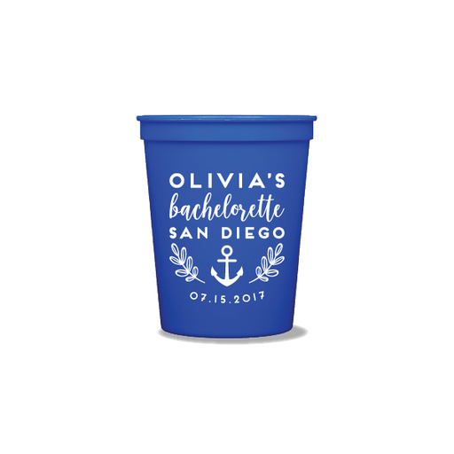 Bachelorette Ahoy Party Cups