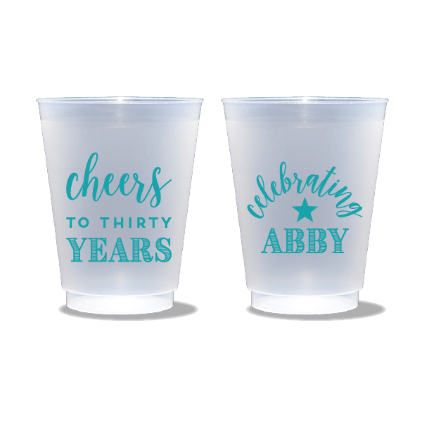 Cheers to Thirty Years Frosted Cups