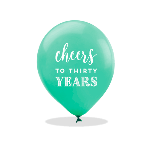 Cheers to Thirty Years Latex Balloons
