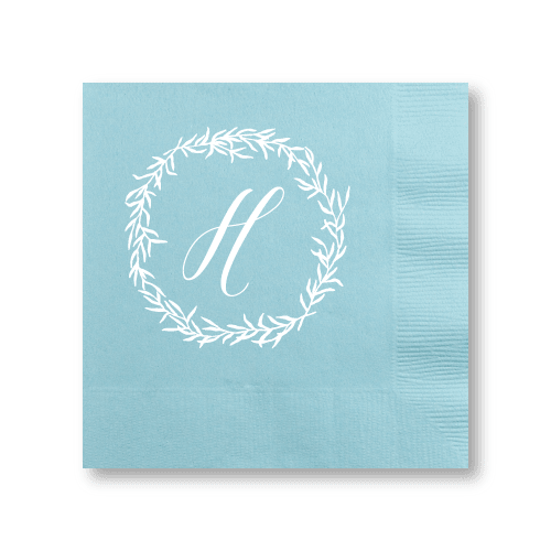 Delicate Wreath Cocktail Napkins