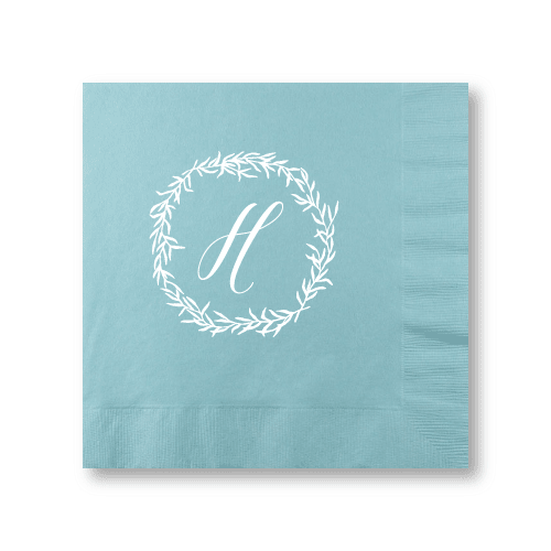 Delicate Wreath Dinner Napkins