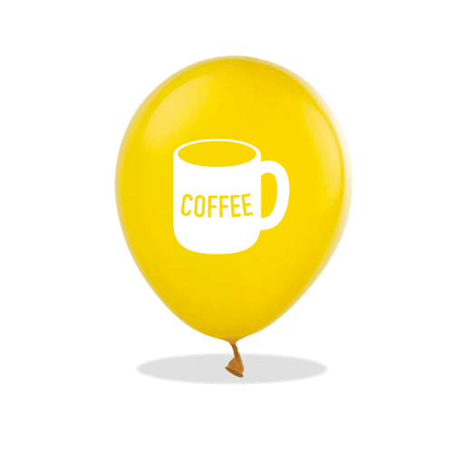 Coffee Mug Latex Balloons