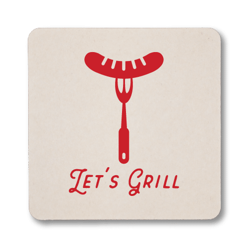 Let's Grill Coasters