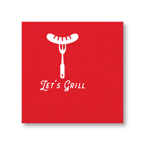 Let's Grill Cocktail Napkins