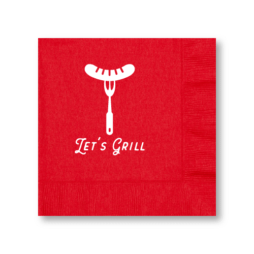 Let's Grill Luncheon Napkins