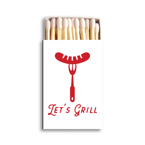 Let's Grill Matchboxes