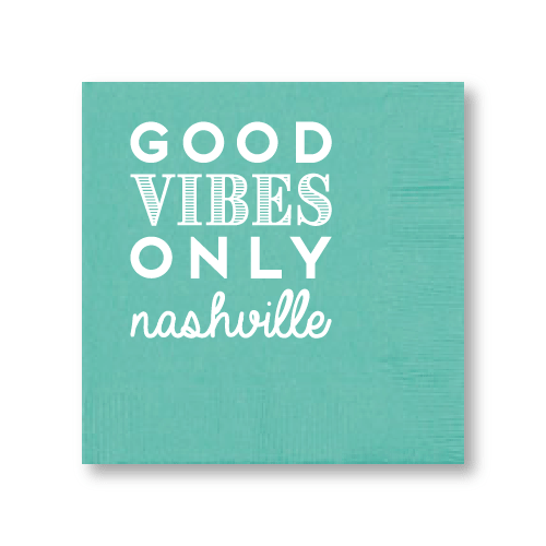 Good Vibes Only Cocktail Napkins