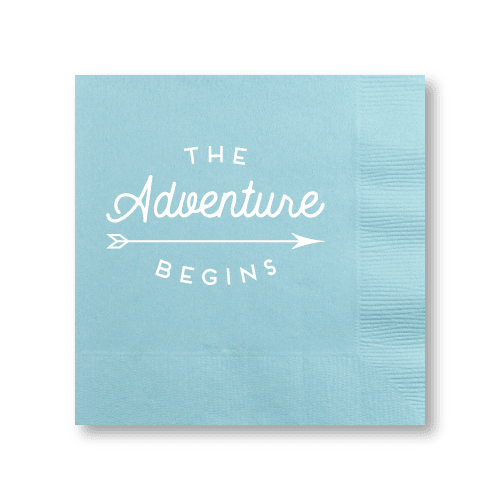 The Adventure Begins Cocktail Napkins