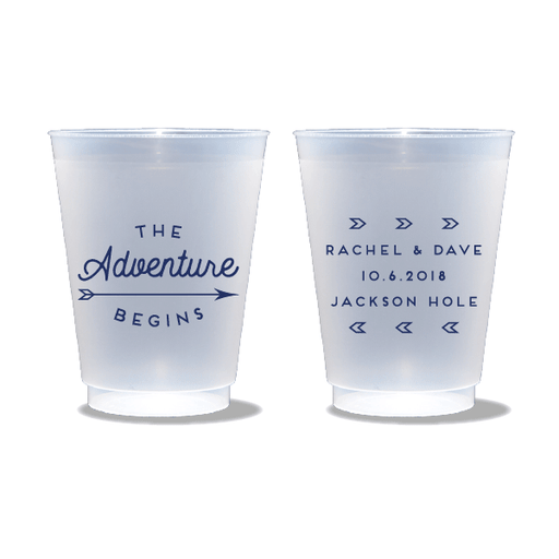 The Adventure Begins Frosted Cups