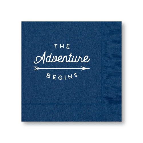 The Adventure Begins Luncheon Napkins