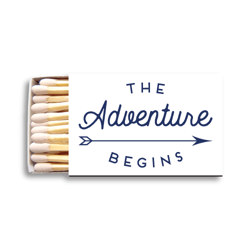 The Adventure Begins Matchboxes