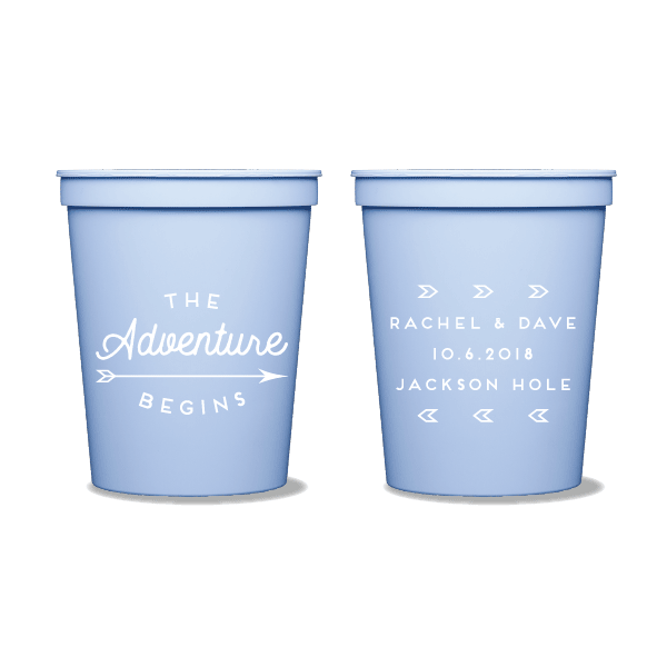 The Adventure Begins Party Cups