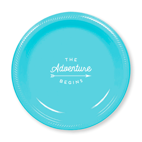 The Adventure Begins Plastic Plates