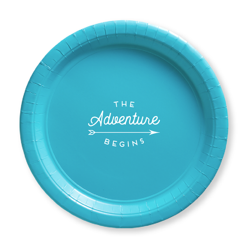 The Adventure Begins Paper Plates